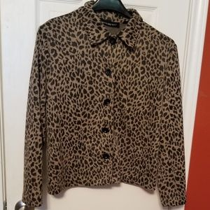 Briggs New York Animal Print Jacket